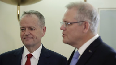Bill Shorten and Scott Morrison.