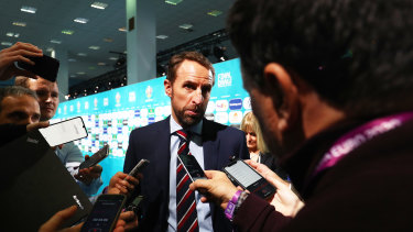 England boss Gareth Southgate speaks to the media after drawing Croatia in his team's group.