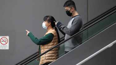 Many people are already wearing face masks.
