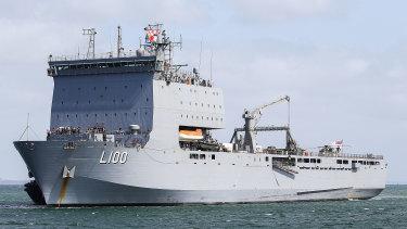 HMAS Choules.