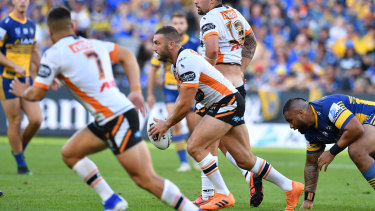 Big loss: Robbie Farah was forced from the field in the first 10 minutes against Parramatta.