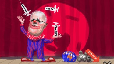 Scott Morrison has made a meal of the vaccine rollout while ignoring pressing issues like climate change.
