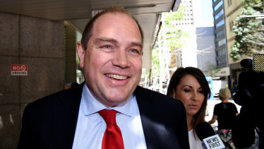 Former NSW Labor general secretary Jamie  Clements leaves the ICAC after giving evidence this week