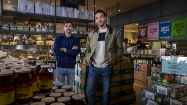 Back to their grocery roots: King & Godfree directors Jamie Valmorbida, right, and Luca Sbardella.