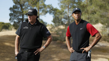 It seems Phil Mickelson (left) will need to rely on a captain's pick from Tiger Woods.