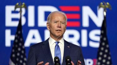 Joe Biden claimed a mandate, saying he would win, and Americans had chosen change.