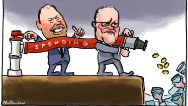Treasurer Josh Frydenberg and Prime Minister Scott Morrison will need to spend more for longer.