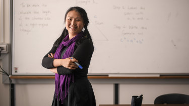 Ying Qin changed careers to become a maths teacher.