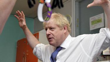 Bewildered: Boris Johnson.