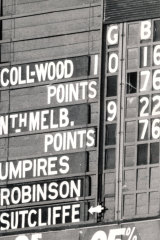The scoreboard after the siren shows a 76-76 draw.