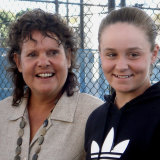 Ashleigh Barty, right, with her idol and tennis great Evonne Goolagong Cawley in 2011.
