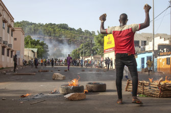 Protesters took to the streets of Bamako in June to demand the President's resignation.