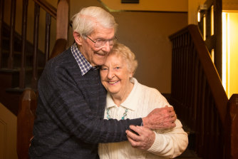'This time I didn't let him go': Alf and Elsie.