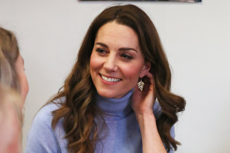 Catherine, Duchess of Cambridge, speaks to users of the Social Bite cafe, during a visit to Aberdeen, to meet with locals for her Early Childhood survey last week.