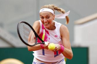 Petra Kvitova crusied to victory over Laura Siegemund.