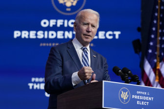 President-elect Joe Biden said his transition team's efforts were proceeding smoothly, despite Republicans' refusal to acknowledge defeat.