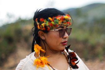 Pro-mining: Irisnaide Silva, a leader of one of two main indigenous groups in the Amazonian state of Roraima, Brazil.