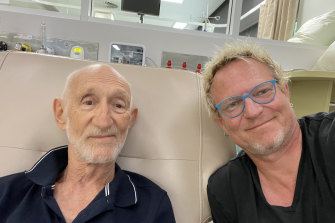 Mark Kilian with his father, Frans.