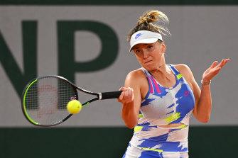 Elina Svitolina won even without her lucky charm.
