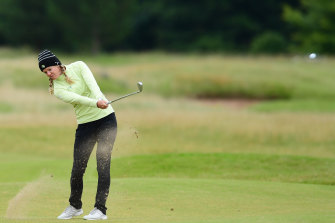 American Amy Olson came out on top in tough conditions at Royal Troon.
