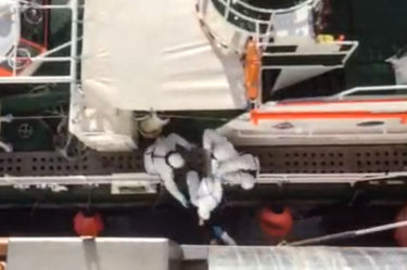 'Grim': Australian dramatically rescued from stranded cruise ship has COVID-19