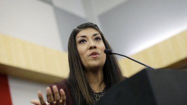 Lucy Flores was one of two women to make allegations of unwanted touching by Biden.