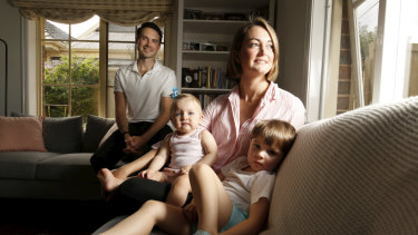 Kate Percy with her husband Adam and their children Genevieve, 10 months, and Lleyton, 3, decided not to wait to switch insurers  as reforms meant to make it easier to compare policies appear not to be working