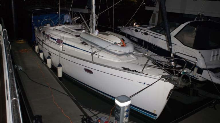 Police raided the yacht at Coomera on Queensland's Gold Coast.