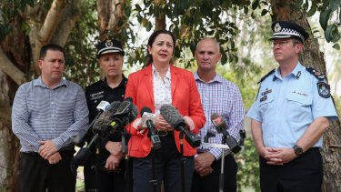 Queensland Premier Annastacia Palaszczuk announced the Queensland Bushfire Appeal on Friday while visiting Miriam Vale.