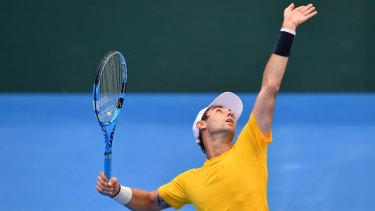 Frontline: Jordan Thompson will lead off Australia's David Cup tie against Austria.
