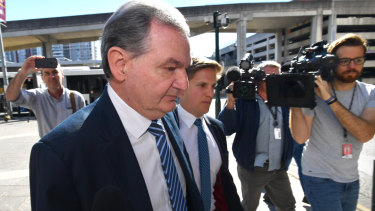 Former Ipswich Mayor Paul Pisasale leaving Brisbane Magistrates Court on August 13.