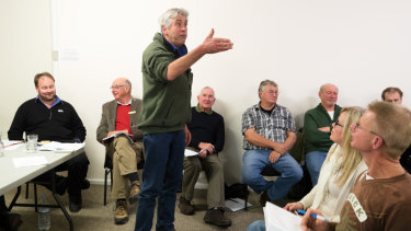 Phillip Haynes argues against fluoride being added to the town water in Oberon.