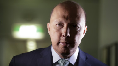 The buck stops here ... Home Affairs Minister Peter Dutton.