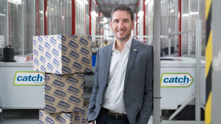 Catch Group  CEO Nati Harpaz at its distribution centre in Melbourne.