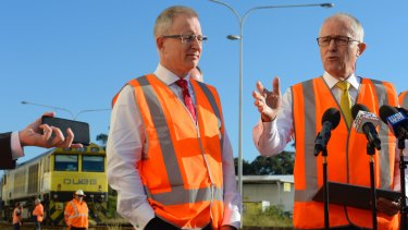 Urban Infrastructure Minister Paul Fletcher with Prime Minister Malcolm Turnbull.