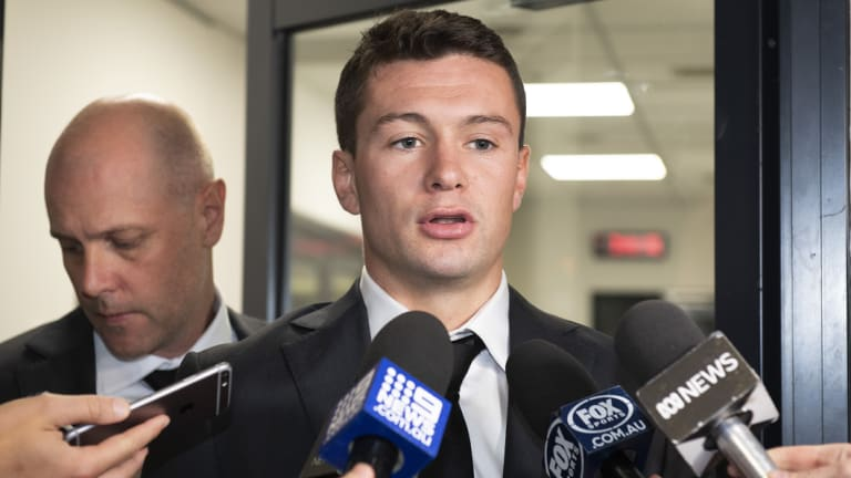 Conor McKenna leaves the tribunal after his hearing.