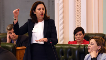 """Questioned over a potential conflict of interest, Premier Annastacia Palaszczuk accused the opposition of """"attacking accounting firms""""."""