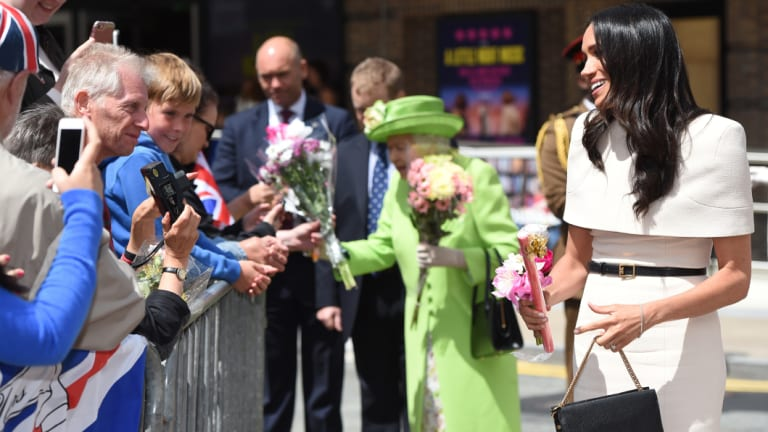 The pair greeted well-wishers and held a minute of silence for the victims of the Grenfell Tower fire.