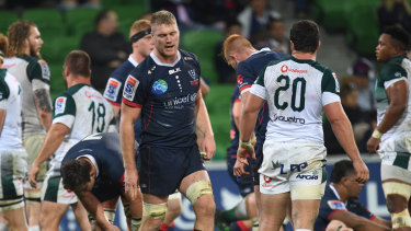 The Rebels' Matt Philip reacts to the loss to the Bulls.