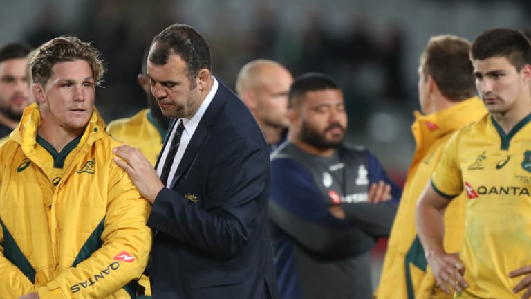 No more: Michael Cheika wants the Wallabies to draw a line in the sand after their latest Bledisloe capitulation.