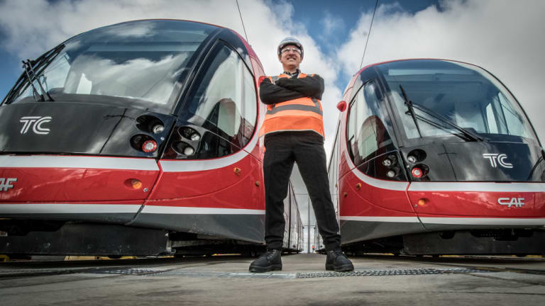 Former Canberra maths teacher Anthony Reid has made a career change and is now a  trainee light rail driver.