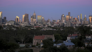 The city skyline on Wednesday morning