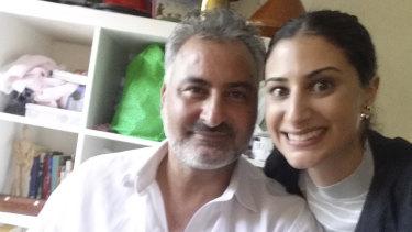 Mr Hamouda with his Australian born daughter,  Lamisse, 28.