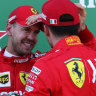 Vettel leads Ferrari front-row lockout in Suzuka
