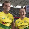 Australian captains Nick Malouf and Sharni Williams.