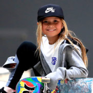 Big dreams: Skateboarder Sky Brown, 10, could make history at the 2020 Olympic Games.