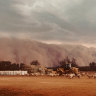 Huge 'wall of dust' sweeps across western NSW