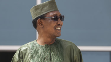 Chad's late president Idriss Deby Itno.