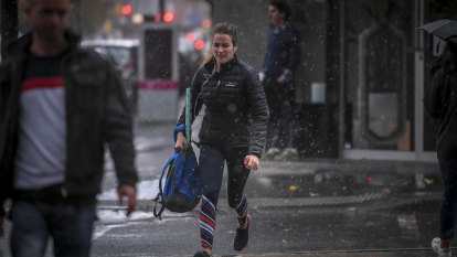 Cold, wet and windy: Victoria gets an early taste of winter