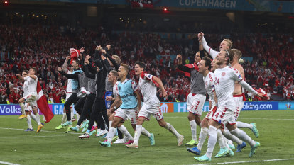 Denmark win where Eriksen fell to advance at Euros, Dutch complete clean sweep